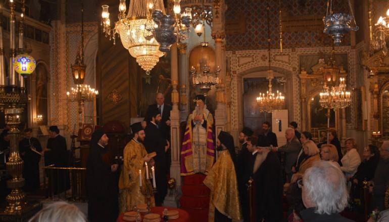 Ο Οικουμενικός Πατριάρχης στον Ι. Ναό του Ευαγγελισμού Ταταούλων (ΦΩΤΟ)