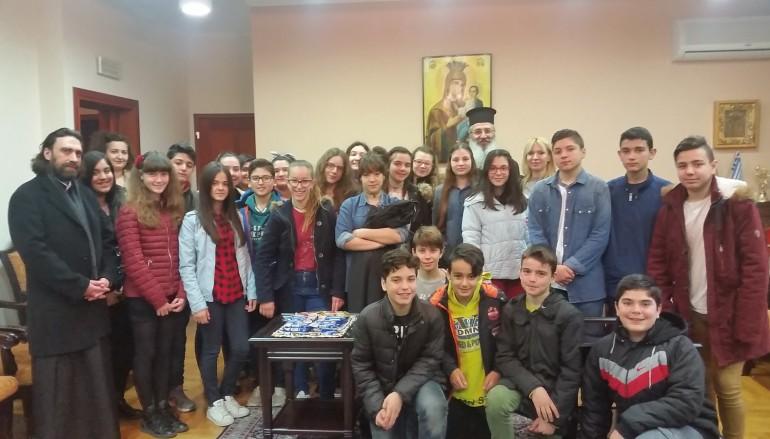 Επίσκεψη του Μουσικού Γυμνασίου στο Μητροπολίτη Αλεξανδρουπόλεως (ΦΩΤΟ)