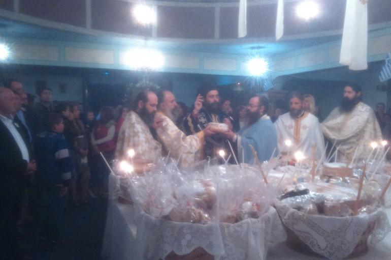Ο Εσπερινός του Ευαγγελισμού της Θεοτόκου στα Όχθια Αιτωλοακαρνανίας (ΦΩΤΟ)