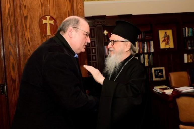 Στον Αρχιεπίσκοπο Αμερικής ο Υπουργός Παιδείας