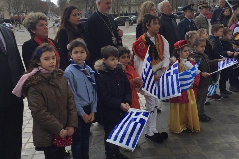 Ο εορτασμός της 25ης Μαρτίου στο Παρίσι (ΦΩΤΟ)