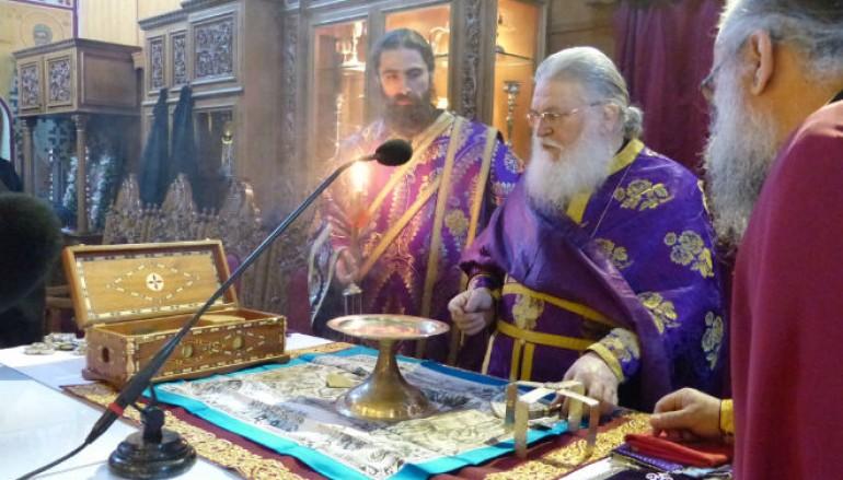 Προηγιασμένη Θ. Λειτουργία τέλεσε ο Ηγούμενος Εφραίμ στην Καστοριά (ΦΩΤΟ)