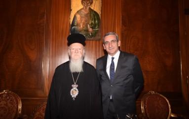 Στον Οικ. Πατριάρχη ο Περιφερειάρχης Ν. Αιγαίου (ΦΩΤΟ)