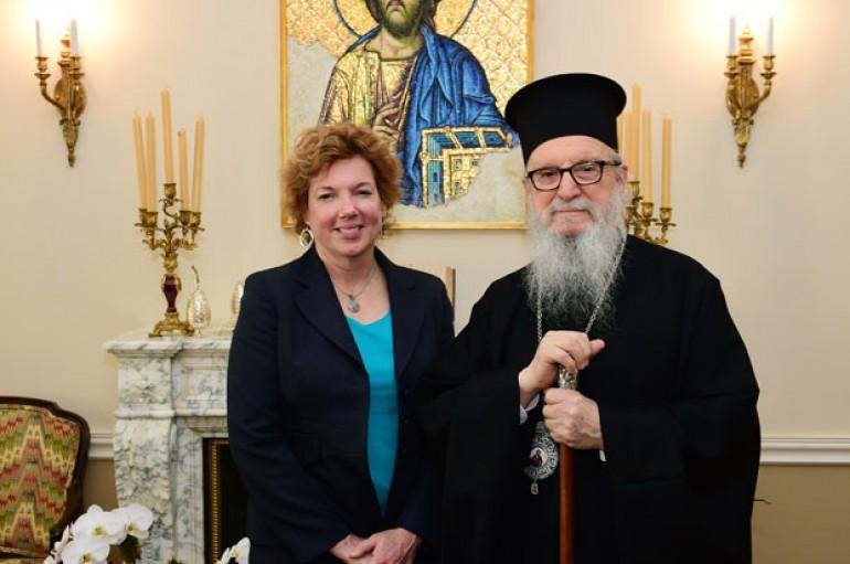 Συνάντηση Αρχιεπισκόπου Αμερικής με την Πρέσβη των ΗΠΑ στην Κύπρο