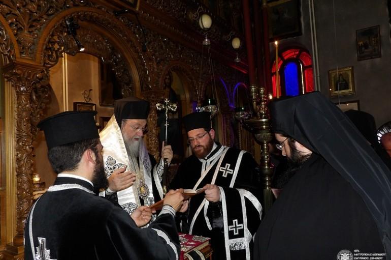 Κουρά Μεγαλόσχημου μοναχού στην Ι. Μ. Κορίνθου (ΦΩΤΟ)