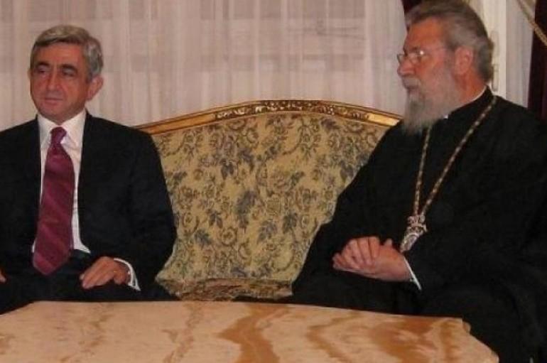 Στον Αρχιεπίσκοπο Κύπρου ο Πρόεδρος της Αρμενίας (ΦΩΤΟ)