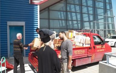 Ο Μητροπολίτης Γλυφάδος κοντά στους πρόσφυγες (ΦΩΤΟ)