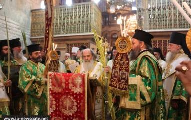 Η Κυριακή των Βαΐων στο Πατριαρχείο Ιεροσολύμων (ΦΩΤΟ – ΒΙΝΤΕΟ)