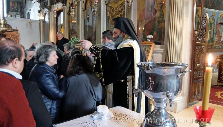 Προηγιασμένη Θεία Λειτουργία στον Ι. Ν. Κοιμήσεως της Θεοτόκου Αρχιμανδρείου (ΦΩΤΟ)