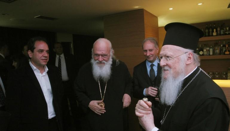 Συνάντηση Οικ. Πατριάρχη με Αρχιεπίσκοπο στη Λέσβο (ΦΩΤΟ)