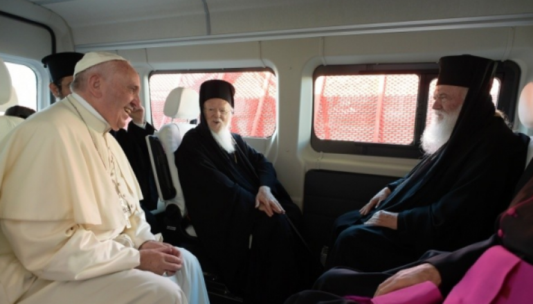 """Οικουμενικός Πατριάρχης: """"Ήταν χρέος μας η επίσκεψη στη Λέσβο"""""""