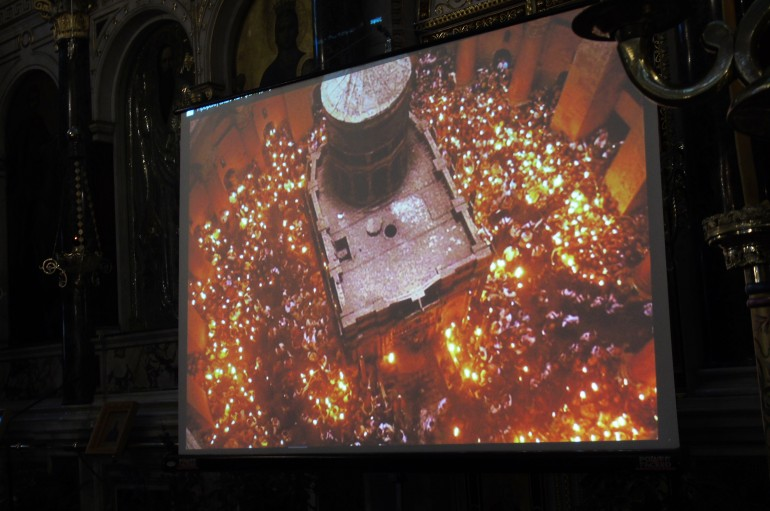 Ομιλία για το Άγιο Φως στην Ι. Μητρόπολη Μαντινείας (ΦΩΤΟ)
