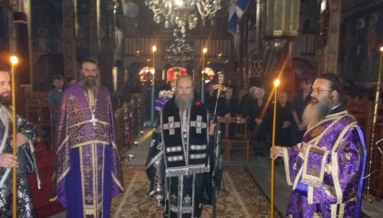 Προηγιασμένη Θ. Λειτουργία από τον Μητροπολίτη Ιερισσού (ΦΩΤΟ)