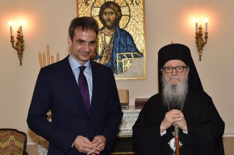 Σον Αρχιεπίσκοπο Αμερικής ο Κυριάκος Μητσοτάκης