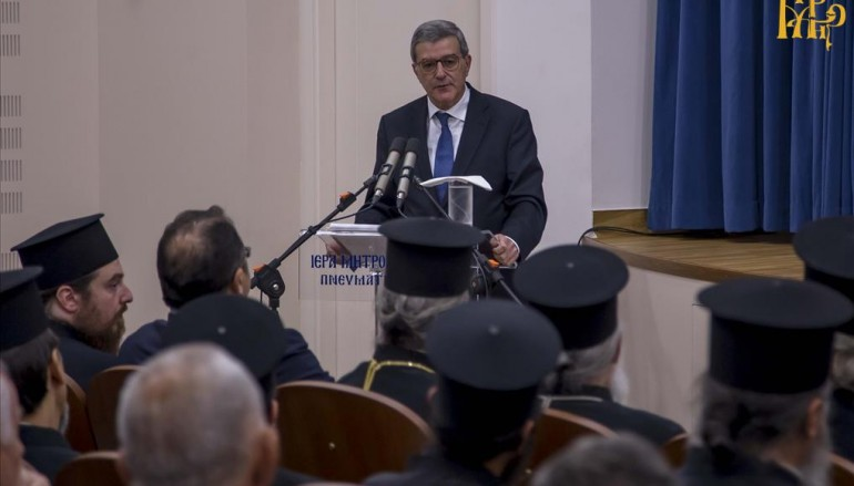 Ομιλία του Κωνσταντίνου Χολέβα στην Ι. Μ. Άρτης (ΦΩΤΟ)