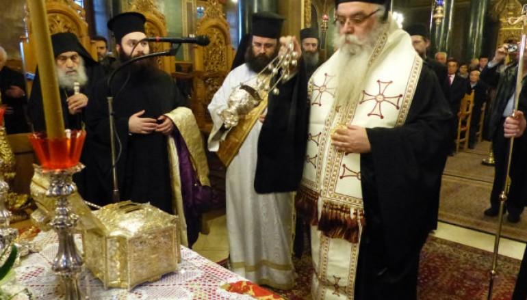 Υποδοχή Τιμίας Κάρας του Αγίου Ελευθερίου στην Ι. Μ. Καστορίας (ΦΩΤΟ)