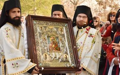 Υποδοχή της Παναγίας της «Μικρασιάτισσας» στο Μεσαίο Θεσσαλονίκης (ΦΩΤΟ)