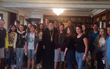Επίσκεψη μαθητών σχολείου της Αδελαΐδας στον Μητροπολίτη Κερκύρας (ΦΩΤΟ)
