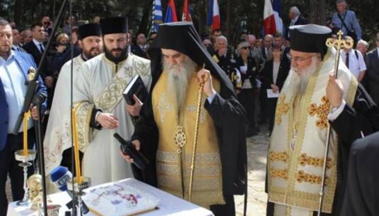 Επιμνημόσυνη Δέηση για τους Σέρβους στρατιώτες στη νησίδα Βίδο (ΦΩΤΟ)