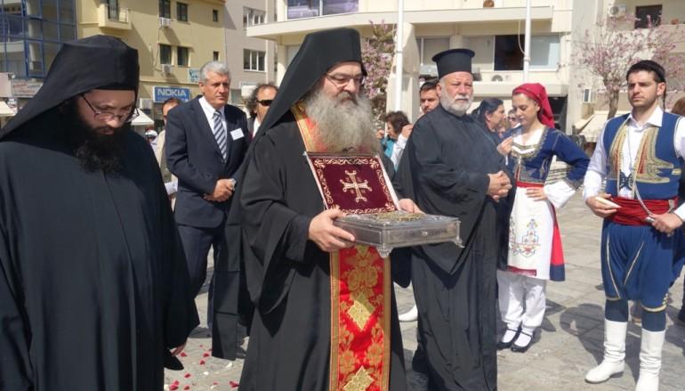 Υποδοχή Τιμίου Ξύλου στην Ιερά Αρχιεπισκοπή Κρήτης (ΦΩΤΟ – BINTEO)