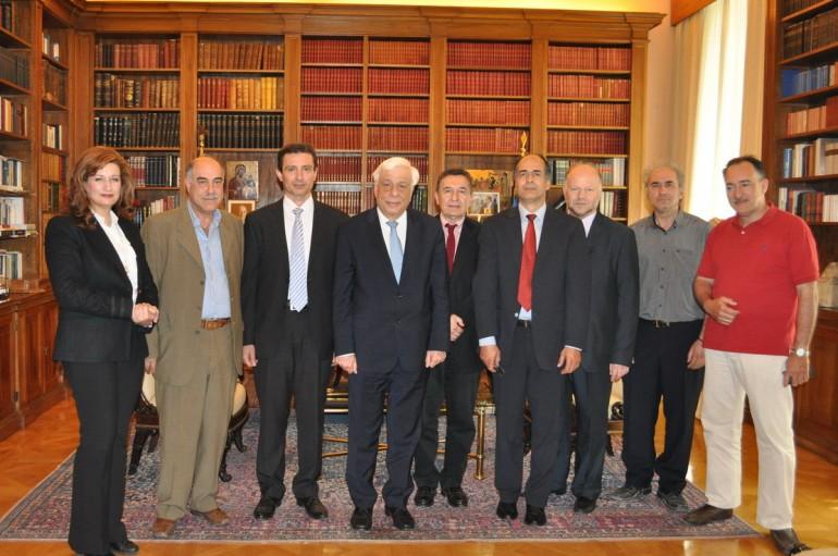 Συνάντηση αντιπροσωπείας της ΠΕΘ με τον Πρόεδρο της Ελληνικής Δημοκρατίας