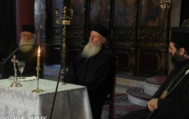 Ο Προηγούμενος της Ιεράς Μονής Ιβήρων στην Ι. Μ. Μαρωνείας (ΦΩΤΟ)