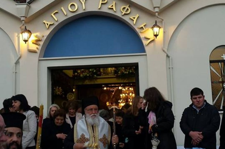 O Εσπερινός των Νεοφανών Αγίων Ραφαήλ, Νικολάου καί Ειρήνης στην Τρίπολη (ΦΩΤΟ)