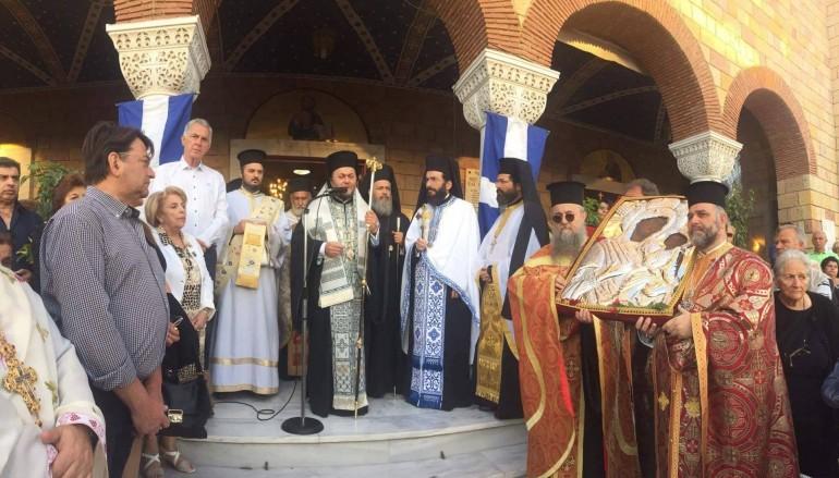 Ο εορτασμός του Αγίου Ιωάννου του Θεολόγου στο Περιστέρι (ΦΩΤΟ)