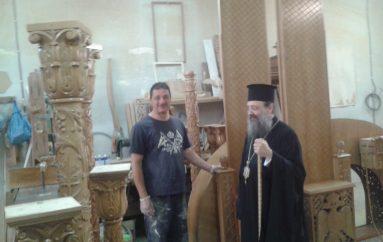 Ἕτοιμο γιά τοποθέτηση τό τέμπλο τοῦ νέου Ι. Ναοῦ Ἁγίου Χαραλάμπους Τσουκαλεΐκων (ΦΩΤΟ)