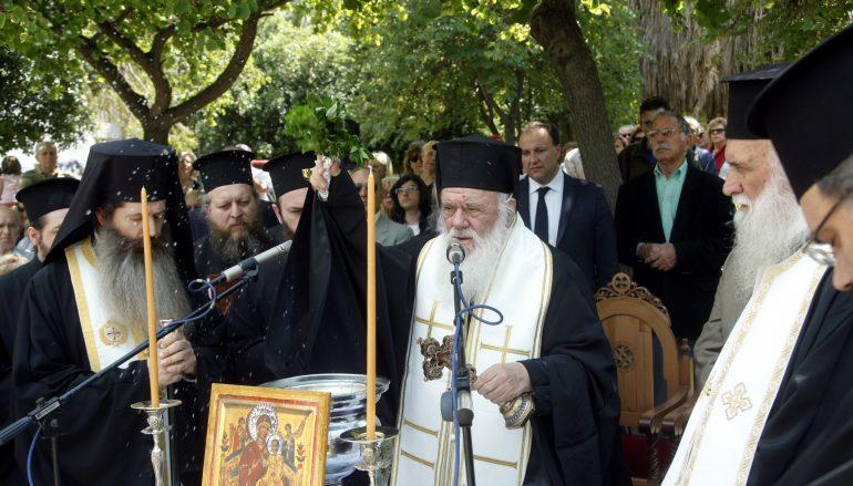 """Αρχιεπίσκοπος Ιερώνυμος: """"Ένα έργο που θα ωφελήσει"""" (ΦΩΤΟ)"""