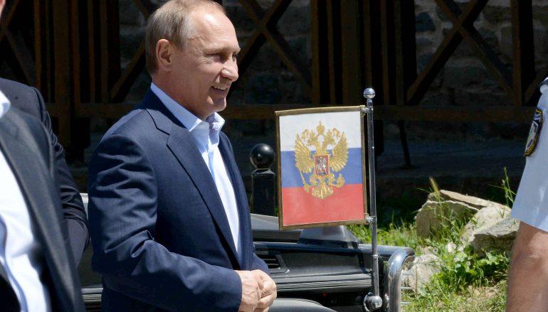 Η άφιξη του Βλ. Πούτιν στην Αθωνική Πολιτεία (ΦΩΤΟ)