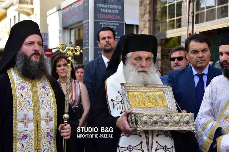 Το Άργος υποδέχθηκε την χείρα της Αγίας Μαρίας της Μαγδαληνής (ΦΩΤΟ – ΒΙΝΤΕΟ)