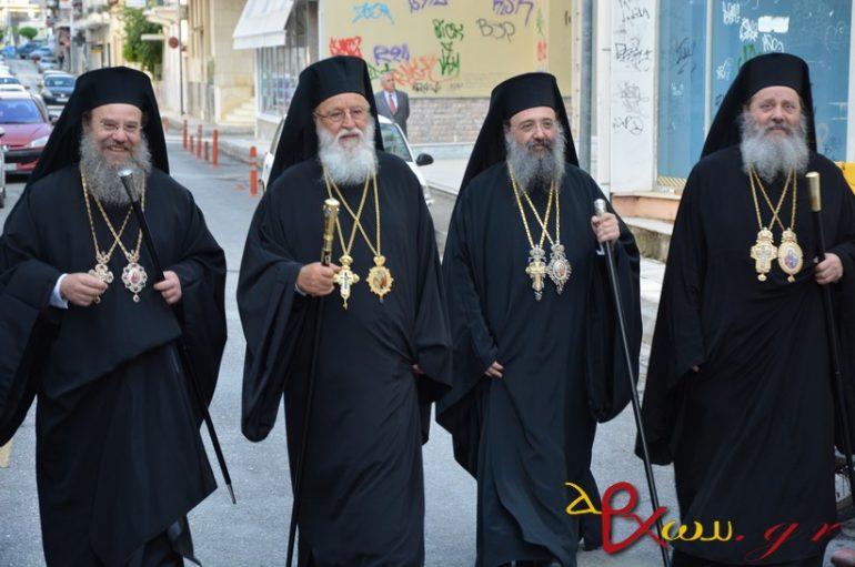 Πολυαρχιερατικός εσπερινός στην Τρίπολη για τους Πολιούχους της (ΦΩΤΟ)