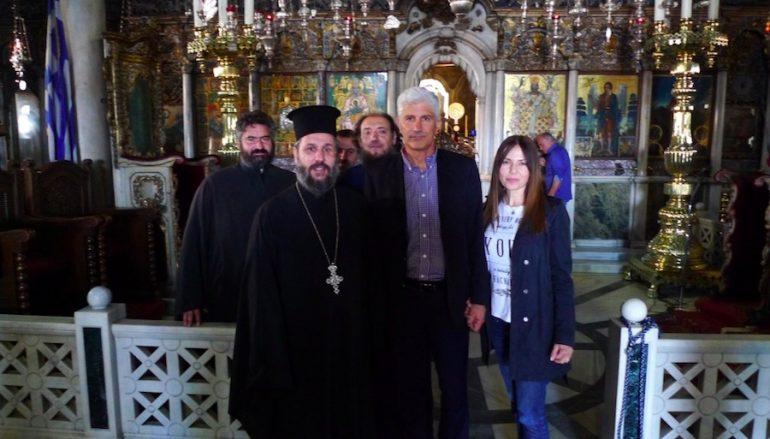 Ο προπονητής της ΑΕΚ επισκέφθηκε τη Μεγαλόχαρη της Τήνου (ΦΩΤΟ)