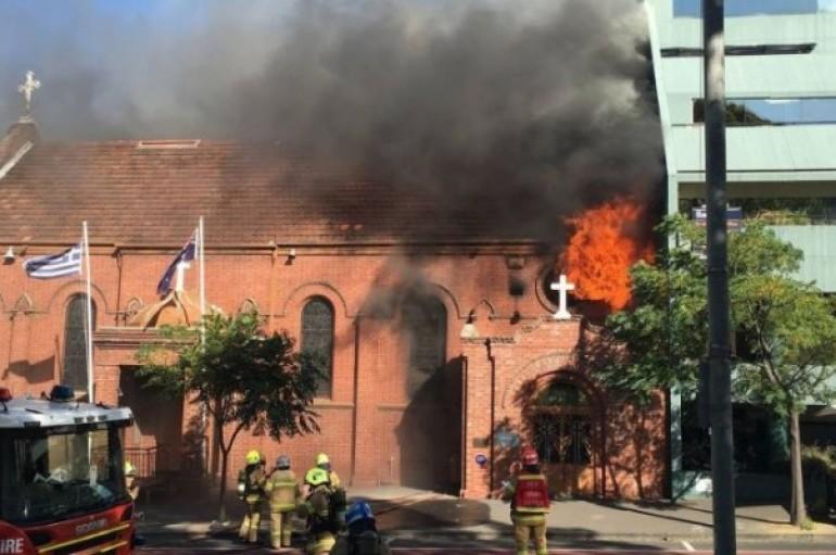 Πυρκαγιά σε ελληνορθόδοξη εκκλησία στη Μελβούρνη (ΦΩΤΟ)