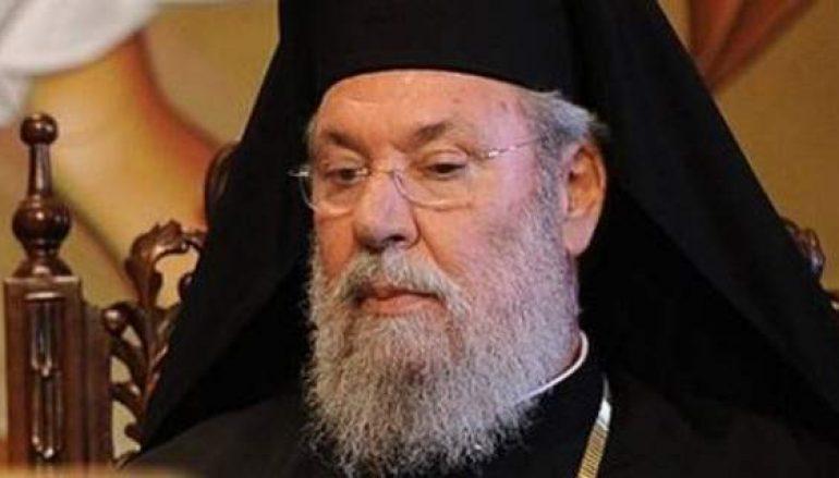 Ικανοποιημένος ο Αρχιεπίσκοπος Κύπρου για την είσοδο των ακροδεξιών στη βουλή