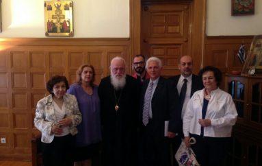 Το Δ. Σ. του Συλλόγου Ρεθυμνίων Αττικής «ΤΟ ΑΡΚΑΔΙ» στον Αρχιεπίσκοπο