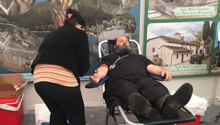 Ο Μητροπολίτης Ιωαννίνων εθελοντής αιμοδότης (ΦΩΤΟ)