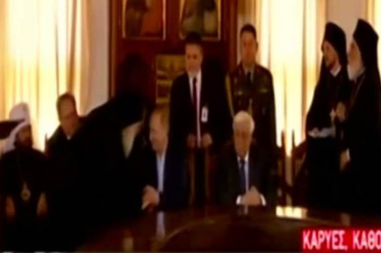 Εγκάρδιο τετ α τετ Πούτιν με τον Ηγούμενο Εφραίμ (ΒΙΝΤΕΟ)