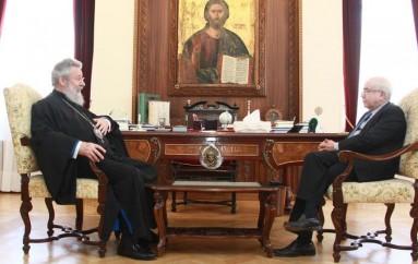 Συνάντηση Αρχιεπισκόπου Κύπρου με τον Πρόεδρο της Κυπριακής Βουλής