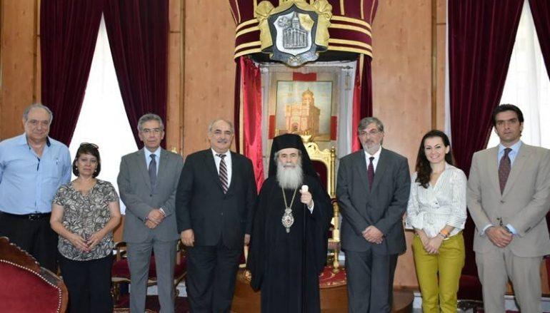 Ο Αναπληρωτής Υπουργός Ανάπτυξης της Ελλάδας στον Πατριάρχη Ιεροσολύμων (ΦΩΤΟ-ΒΙΝΤΕΟ)