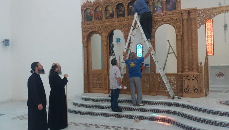 Ο Μητροπολίτης Πατρών παρακολουθεί τις εργασίες του Ι.Ναού Αγ. Χαραλάμπους Τσουκαλεΐκων (ΦΩΤΟ)