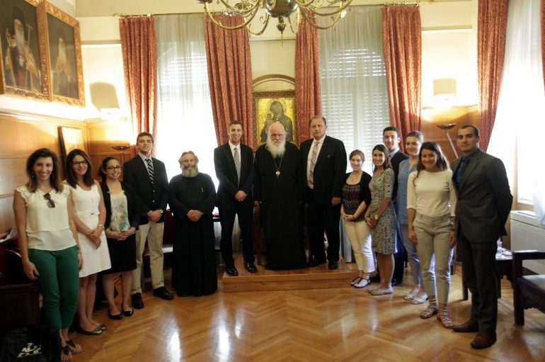 Στον Αρχιεπίσκοπο Ιερώνυμο φοιτητές του Ελληνοαμερικανικού Ινστιτούτου (ΦΩΤΟ)
