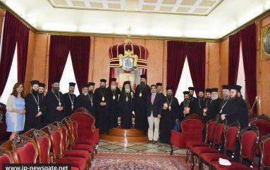 Μητροπολίτες της Ελλαδικής Εκκλησίας στον Πατριάρχη Ιεροσολύμων (ΦΩΤΟ – ΒΙΝΤΕΟ)