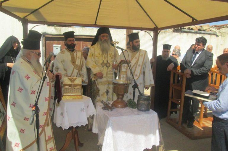 Αγιασμός στην υπό ανακαίνιση οικία του Αγίου Φιλουμένου του Κυπρίου (ΦΩΤΟ)