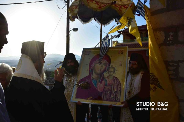 Οι Μυκήνες υποδέχθηκαν την Παναγία του Καζάν (ΦΩΤΟ – ΒΙΝΤΕΟ)