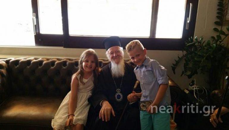 Οι Ανθρώπινες στιγμές του Οικουμενικού Πατριάρχη στην Αλικαρνασσό (ΦΩΤΟ)