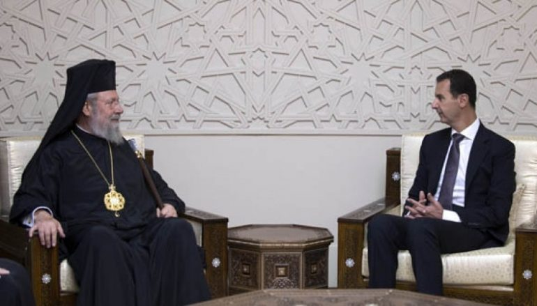 Αρχιεπίσκοπος Κύπρου: «Μονιασμένος ο Συριακός λαός»
