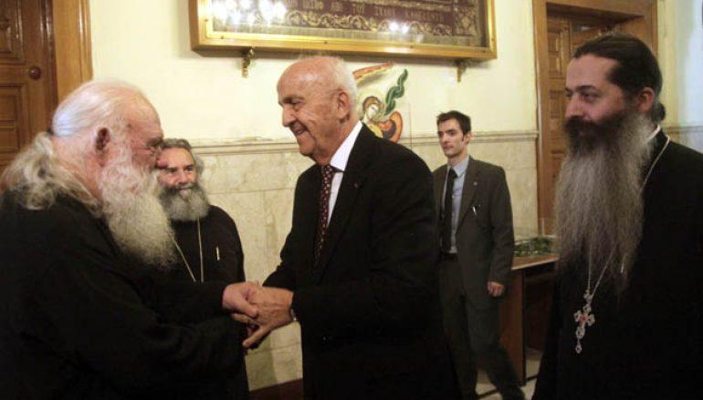 Ο Υπουργός Εθνικής Άμυνας του Λιβάνου στον Αρχιεπίσκοπο Ιερώνυμο (ΦΩΤΟ)