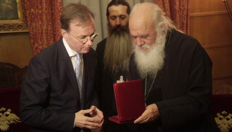 Ο Υπουργός Παιδείας της Γερμανίας στον Αρχιεπίσκοπο Ιερώνυμο (ΦΩΤΟ)